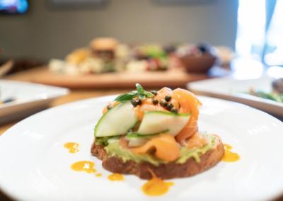 La Jolla Restaurant and Bar Salmon Avo Toast