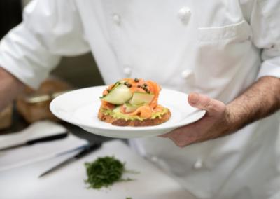 La Jolla Restaurant and Bar Salmon Toast