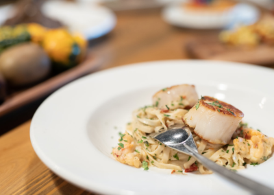La Jolla Restaurant and Bar Scallop Pasta